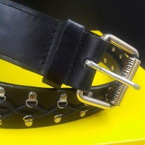 Authentic leather Harley Davidson black belt